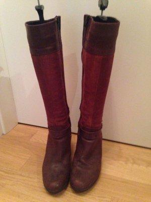 Tolle rote Stiefel aus Leder kaum getragen