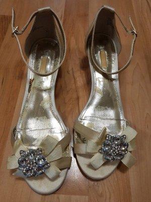 Sandalo con cinturino argento-crema