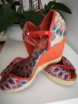 Desigual Platform Sandals multicolored mixture fibre