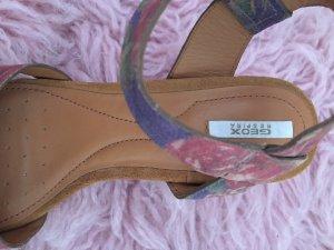 Geox Sandales à talons hauts et plateforme violet-beige cuir