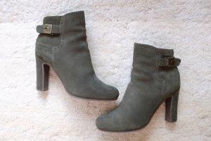 Tolle Scholl Stiefeletten in dunkelgrün, Gr. 39, sehr selten getragen