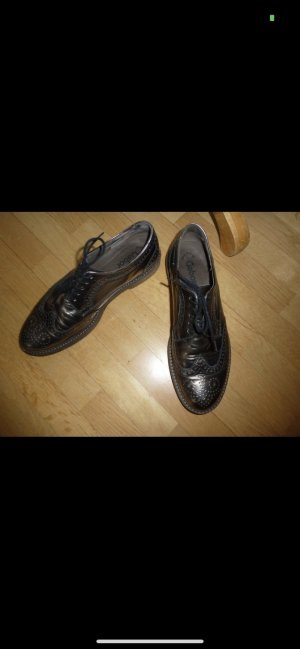 Gabor Lace Shoes silver-colored leather