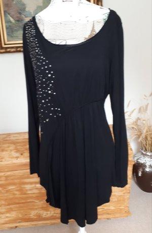 Tolle schwarze Bluse mit Nietenapplikation, 38
