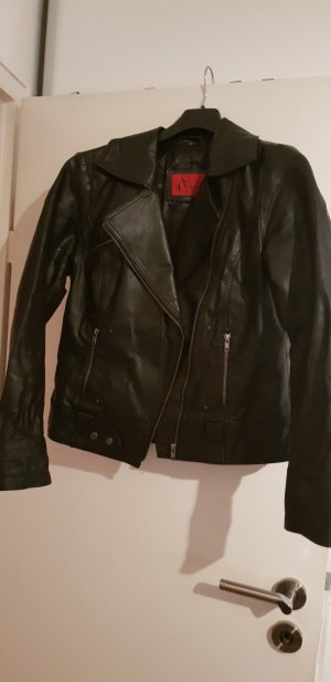 tolle schwarze echt Lederjacke