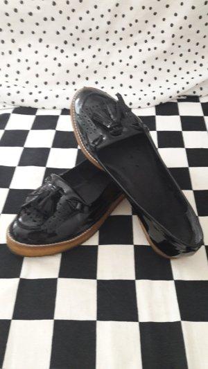 tolle schwarze Lack Schuhe Gr. 41 wie neu
