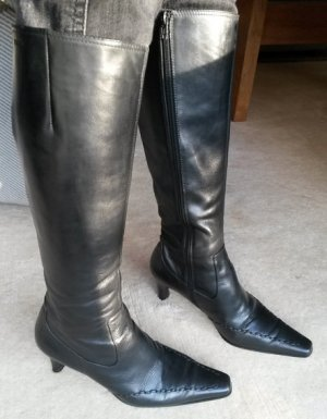 Belmondo Heel Boots black leather