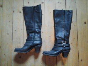 tolle schwarze Stiefel von Esprit Größe 39 mit Zierschnalle