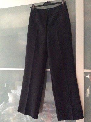 Hallhuber Hoge taille broek zwart Katoen