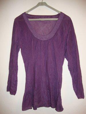 Via Milano Blusa de túnica violeta oscuro Seda