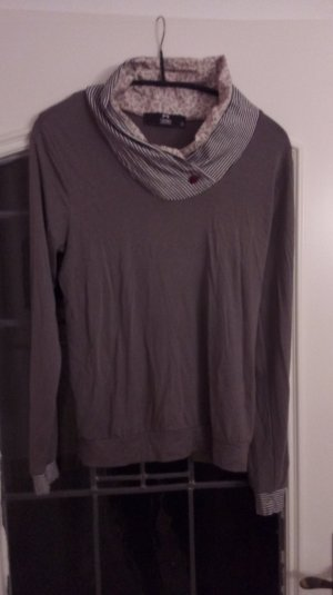 Long Shirt dark grey-taupe viscose