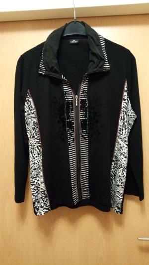 Lebek Giacca-camicia nero-bianco Viscosa