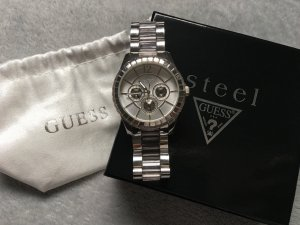 tolle silberne Guess Armband Uhr