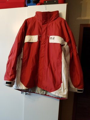 Tchibo / TCM Outdoor Jacket white-dark red