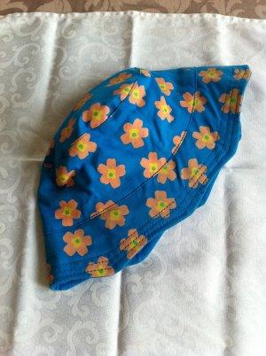 tolle Sommer Mütze, blau mit Muster, Baumwolle, neu, frische Farben