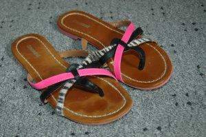 Tolle Sommer Sandalen von Graceland 36 Mit Animalprint und Neon