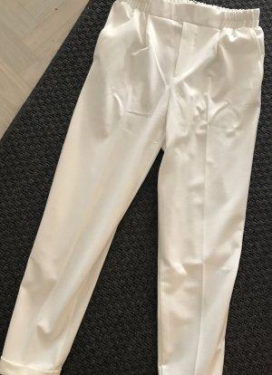 Bershka Pantalón tipo suéter blanco