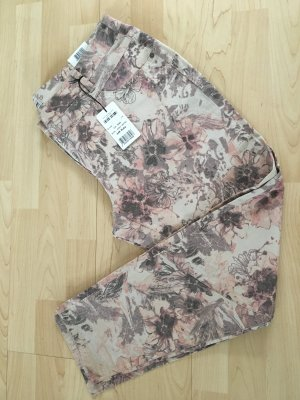 Gerry Weber 3/4 Length Trousers dusky pink-silver-colored