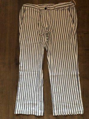 Opus 3/4 Length Trousers white-dark blue