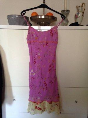Tolle Sommerkleid in rosa-gelb von Bennetton
