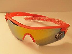 Tolle Sonnenbrille in Rot mit Spiegelglas