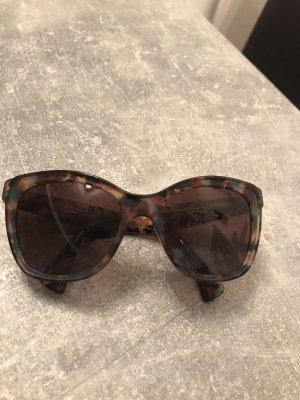 Prada Angular Shaped Sunglasses brown-turquoise