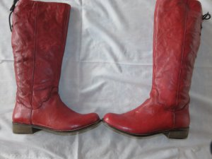 Spm Jackboots red-neon red leather