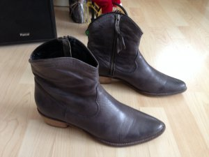 tolle SPM - Stiefelette Gr. 40, grau-taupe, weiches Leder, TipTop