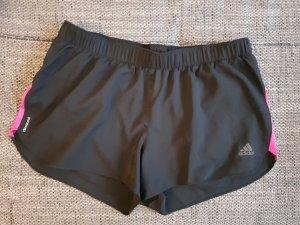 Adidas Pantalón corto deportivo negro-rojo frambuesa