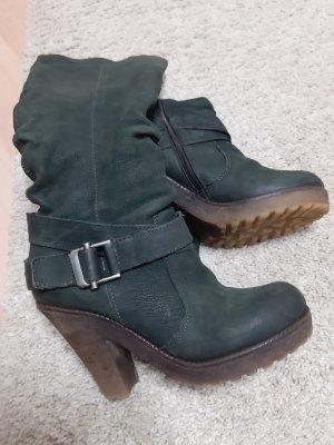 High Heel Boots forest green