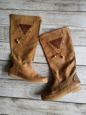 Cox Jackboots camel-bronze-colored leather