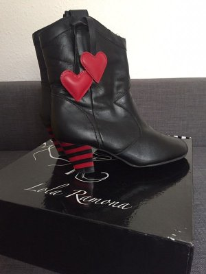Lola ramona Winter Booties black-red leather