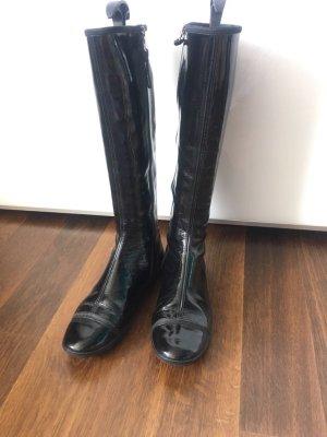 Tolle Stiefel von PRADA Lack schwarz 39