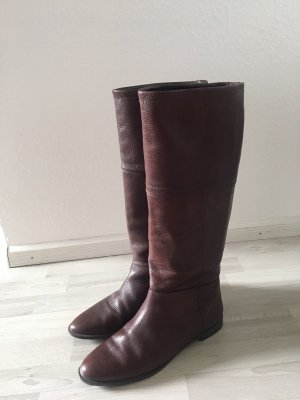 Zara Riding Boots brown red
