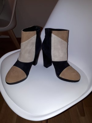 SMH Platform Booties multicolored leather
