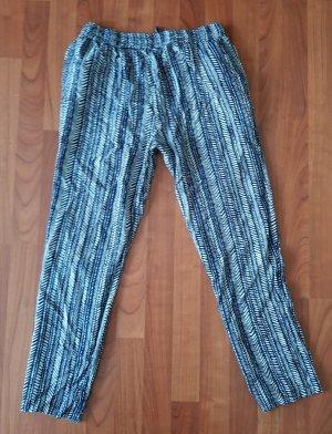 Blue Seven Stoffen broek wit-donkerblauw