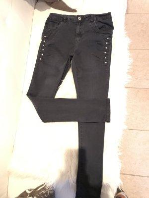 Lexxury Jeans boyfriend antracite-grigio scuro Cotone