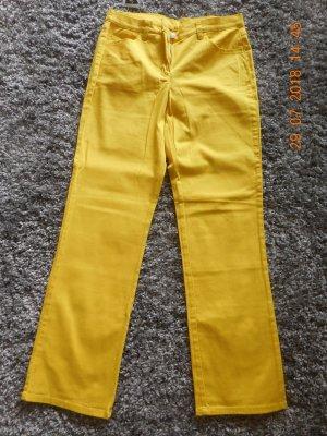 Pantalon cinq poches jaune