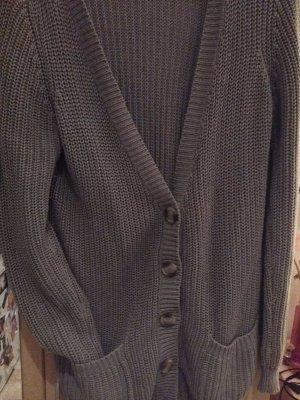 tolle Strickjacke grau in L mit Knöpfen