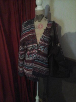 tolle Strickjacke Herbst Multi Color Gr. 34 Oversized von Ricky Cardona