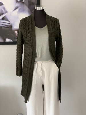 Knitted Coat dark green