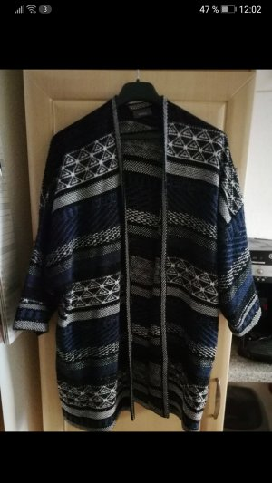 Coarse Knitted Jacket grey-blue