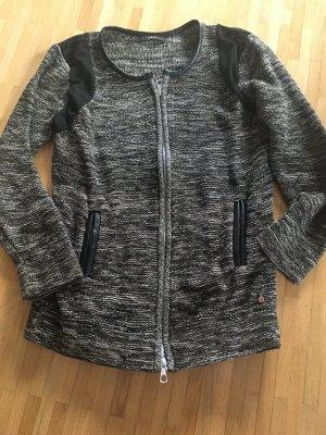Set Veste tricotée en grosses mailles noir-gris
