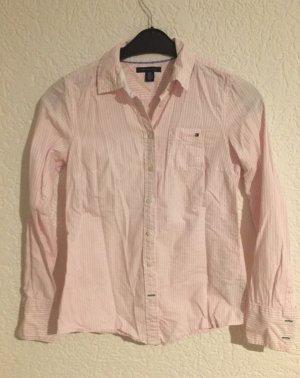 Tolle stylische tommy hilfiger bluse gestreift rosa weiss gestreift gr. Xs 34