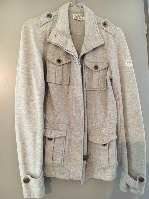 Lauren Jeans Co. Ralph Lauren Veste chemise gris clair coton