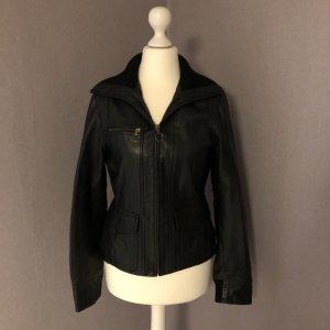 MNG Leather Jacket black