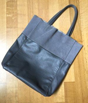 Tolle Tasche in grau Rau- und Glattleder