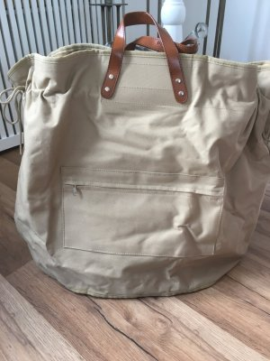 Canvas Bag sand brown synthetic