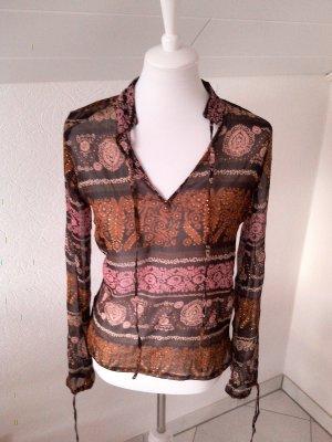 tolle transparente Bluse,Herbstfarben,Tailly Weijl,Gr.S/36