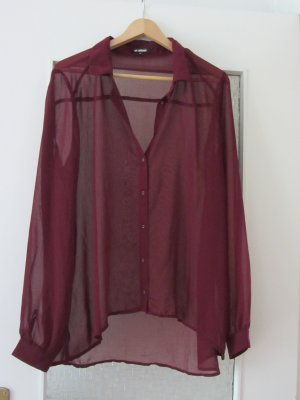 Tolle transparente Bluse in Bordeaux