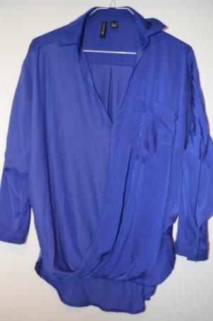 Tolle Tunika/Bluse in Blau-Lila im Wickelstil